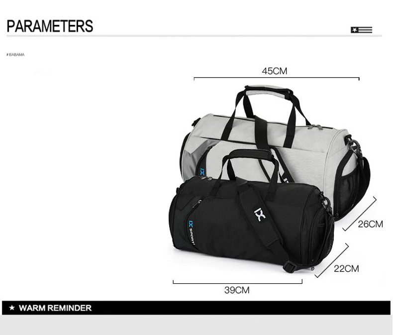 Waterproof Sport Bags Men Large Gym Bag Women Yoga Fitness Bag Outdoor Travel Luggage Hand Bag with Shoe Compartment 2019 (7)