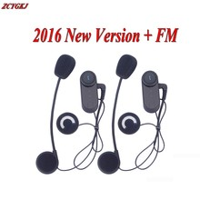 2 pcs 2017 Bluetooth Intercom 3 Riders 800M Helmet Comunicador Capacete Motorcycling Bluetooth Headset Moto Interphone+FM Radio(China)