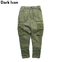 Side Pockets Harem Pants Men 2017 Spring High Quality New Fashion Patchwork Hip Hop Pants Mens Trousers Full Length