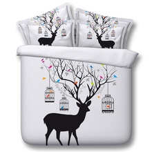 3d bedding set deer bedding print twin queen king super king Modal duvet cover set bedlinen bedclothes