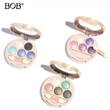 BOB Brand Eye Shadow Palette in Shimmer Metallic 5 Colors Baked Eyeshadow