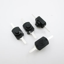 10PCS/LOT Flashlight Switches DC 30V 1A Black On Off Mini Push Button Switch for Electric Torch 1208YD