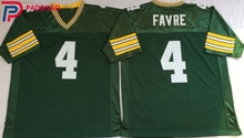 Embroidered Logo Brett Favre 4 white green throwback high school FOOTBALL JERSEY for fans gift cheap 1107-21(China)
