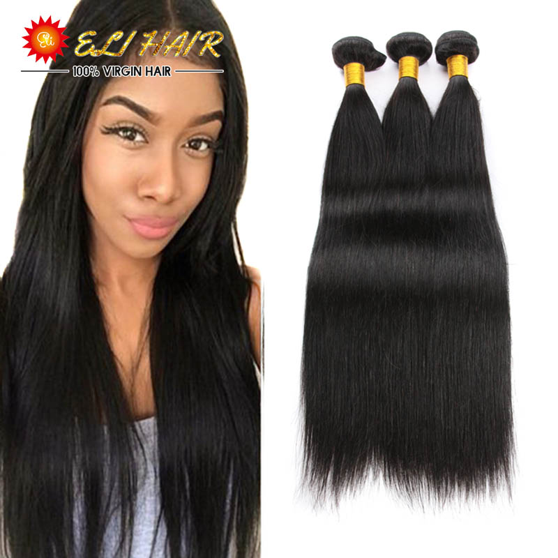 8A Peruvian Virgin Hair With Closure And Bang 3 Bundles Peruvian Human Hair With Closure Peruvian Straight Hair Bundles Deals<br><br>Aliexpress