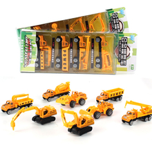 4pcs/set Alloy Toys Truck Model Mini Truck Car Model Diecast Vehicle Cars Models Simulation Toys for Boy Children Gifts