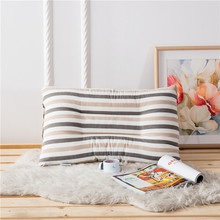 Stripes Pillows For Adults 100% Cotton Sleeping Pillows For Home Bedding 48x74cm Size Home Decoration Brief Cushions Anti-Static(China)