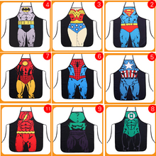 Funny Cooking Kitchen Apron Sexy Dinner Party Apron delantal cocina aprons for woman and man delantales Super hero
