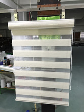 Free shipping zebra blinds double layer roller blinds for customized size(China)