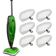 6 Replacement Pads Compatible with H2O H20 Steam Mop(China)