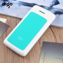 Aigo K20000 20000mAh Fashion Stripe Design Large Capacity Power Bank Dual USB Ports Mobile Phone powerbank Battery Charger