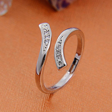 2016 Hot Fashion Charm Women's Natural Silver Plated Adjustable Size Ring Creative Ring for Woman  NY73 7GF5 885K