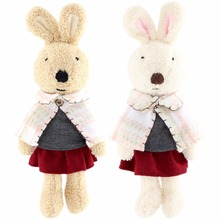 JESONN Dressed Plush Animals Stuffed Toys Rabbits Easter Bunny for Children's Gifts(China)