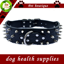 Large Pet Dog Collar 2 Inch Wide Croc Leather Spiked Dog Collars For Pitbulls Dogs Size M L XL XXL Big Pet Products