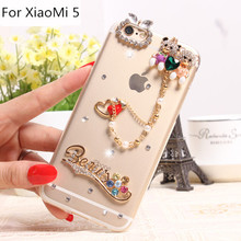 Fashional Crystal Cell Phone Case Shell for Xiaomi5,Luxury Cartoon Pattern Smart Phone Case Cover for Xiaomi 5