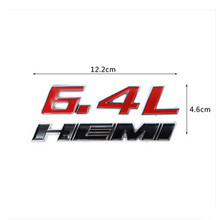 6.4L 392 HEMI Car 3D Letter Emblem Sticker Rear Badge For Dodge Challenger SRT8 HEMI Logo Styling Trunk Decal Red Black White
