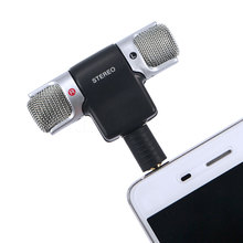 2017 Universal Digital Electric Mic Stereo Microphone for Recorder karaoke PC Laptop MD VoIP MSN Skype for Mobile Phone