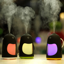 Newest Penguin Ultrasonic USB Aroma Humidifier Essential Oil Diffuser Home Office Mini Aromatherapy Colorful LED Night Light