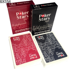 HOT Red and Black Color PVC Pokers for Choosen and Waterproof Plastic Playing Cards Scrub Poker Stars Board Games K8356