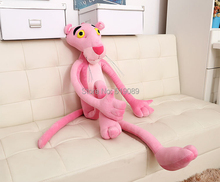Free Shipping 1pcs 3 sizes Pink Panther Stuffed Animals Plush Toys 50cm 70cm or 90cm Panther plush toy For best gift(China)