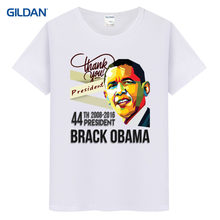 Mens tops thank you president barack obama 44th president usa flag red tee shirt novelty t-shirt(China)
