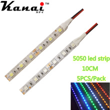 5pcs DC12V 5050 10cm 6leds  LED Strip Light No-Waterproof Led Tape flexible Strip Light  Tira Home Decor Lamp Car Lamp