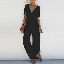 Pantalones Fashion Rompers Women Jumpsuit Elegant Long Overalls Female Summer Playsuit VintageV Neck Sexy Jumpsuit