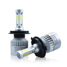 Auto Car H4 H7 H13 H11 H1 H3 9004/5 9006 9007 HB5 LED Headlight 72W 6500K 8000LM 12V COB Bulbs 3D White Automobiles Replace Lamp(China)