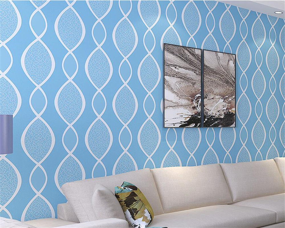 Beibehang Modern Simple Decorative Wallpaper 3D Stereo Wavy Wallpaper Bedroom Living Room Curve Striped 3d Wallpaper for walls<br>