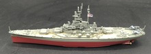 AMER 1:1000 WWII American forces South Dakota BB-57 battleship model Alloy collection model Holiday gift(China)