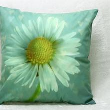 New Modern Simple Hot Trade Wholesale Small Chrysanthemum Short Plush Pillow Decorative Sofa Throw Cushion Home Decor