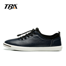 TBA Men's Fashion Walking shoes White/black/blue Genuine Leather Breathable casual shoes Size 38-43