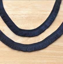 2 Meters Exquisite Tassel Lace Ribbon DIY Sewing Material Navy Blue Fringe Lace Trim Embroidery Garment Accessories Lace Tape