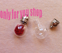 Glass vials pendant magic potion wish bottle MENTAL CAP DIY charm glass pendant