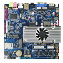 X86 fanless lvds mini itx motherboard Atom D2550 mainboard with onboard 2GB DC 12v board