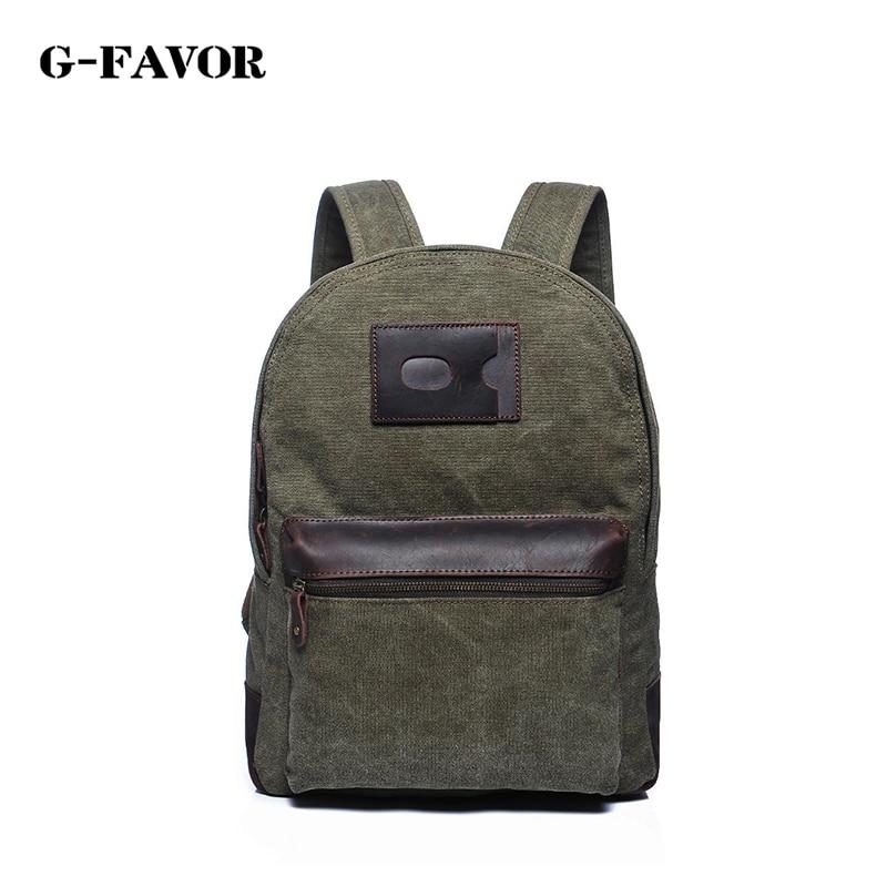 G-FAVOR Backpack men school bags canvas backpack mens designer fashion simple solid color and leisure backpack<br><br>Aliexpress