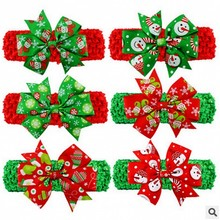 Stylish 6 types Headbands Christmas ornaments fishtail crochet headband head hair bows
