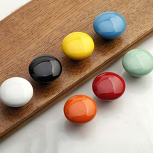 Children room cartoon handle colorful candy knob hand-draw drawer chest door handlle ceramic handle latest 7 color choose CP481