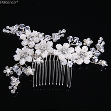Buy Fashion Hair Combs Pearl Jewelry Women Rhinestones Hairpins Bridal Silver Hair Ornament Handmade Wedding Accessories Gift for $4.81 in AliExpress store