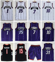 Wholesale Toronto Men's #15 Vince Carter jersey #1Tracy McGrady Lowry DeRozan Throwback Basketball jersey Rev 30 Stitched Logo