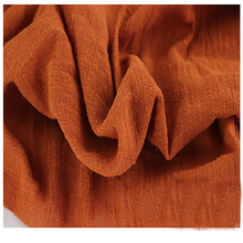 Soft Linen Cotton material orange crincle wrinkle tissue scarves dress double layer linen cotton crepe fabric By meter