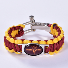 Arizona State Sun Devils Custom Paracord Bracelet NCAA College Football Charm Bracelet Survival Bracelet,Drop Shipping!6Pcs/lot!(China)