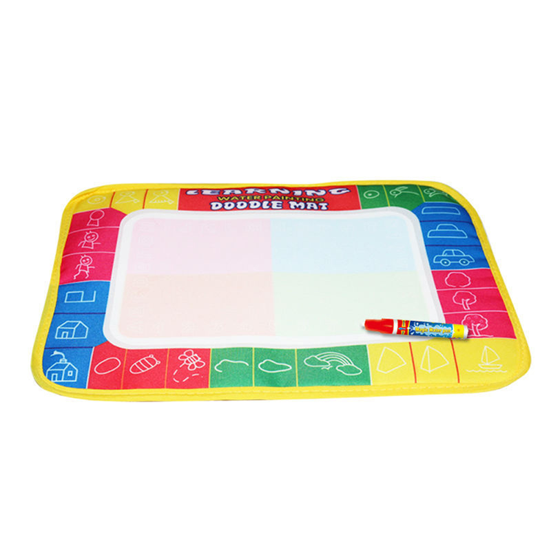 29X19cm 4 color Mini Water Drawing Mat Aquadoodle Mat&1 Magic Pen/Water Drawing board/baby play mat Free shipping TY0011(China)