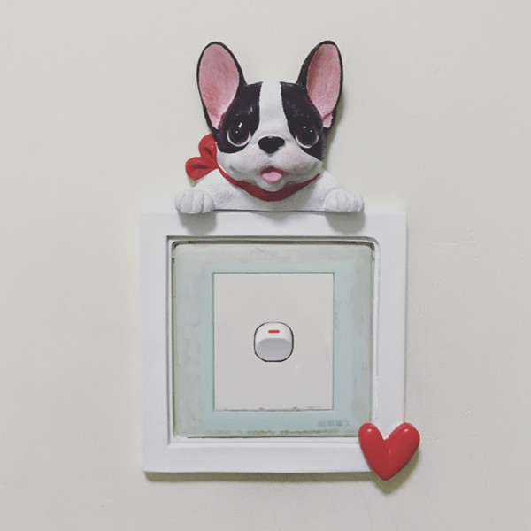 French Bulldog cute puppy dogs resin switch stickers fridge magnets - Buyer's Show 27