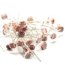 wholesale 20pcs/lot 5528 5MM Photoresistor 5MM Light Dependent Resistor LDR Photoconductive resistance for arduino