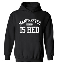 New fashion autumn winter funny tracksuit hoodies hoody man United Kingdom Manchester Red Letter Print hip hop sweatshirt Men