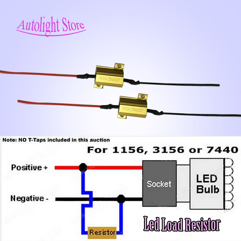 2pcs 1156 1157 Canbus Error Free LED Decoder Load Resistors For Car LED Bulbs Warning Error Message Cancel Hyper Flash Fix<br><br>Aliexpress