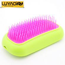 LUYAO Electric hair combs plastic accessories.Vibrating hair brush comb massager.Wireless scalp head massager.Little girl's gift(China)