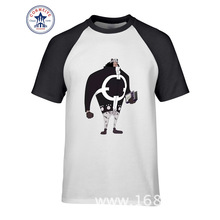 2017 New Arrive Funny One Piece Character Bartholemew Kuma Cotton Funny T Shirt for men(China)