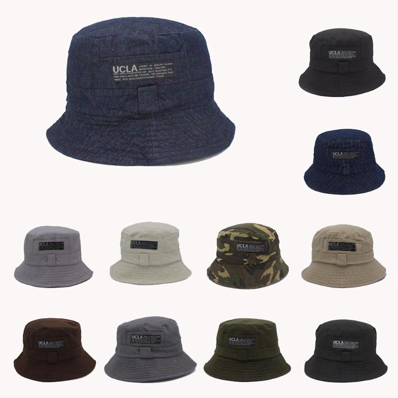 16 Fashion Cottonblend Denim Unisex Cap Bucket Hat Summer Outdoor Fishing Caps for Men and Women Flat Sun Berets HT51041+ 1