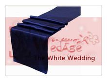 36 piece   navy blue  table runners  For Wedding  FREE SHIPPING  decoracao